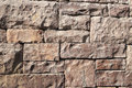 Rock wall brown under sunshine Royalty Free Stock Photos