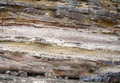 Rock wall textured multi layered Royalty Free Stock Photography