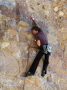 Rockclimbing man Royalty Free Stock Images