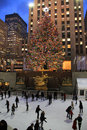 Rockefeller Center Christmas tree, New York City Royalty Free Stock Photos