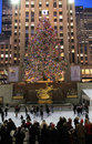 Rockefeller Center Christmas tree, NYC Royalty Free Stock Photography