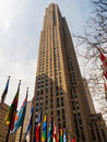 Rockefeller center view of the high in nyc Stock Photography