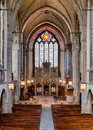 Rockefeller chapel interior of the on the campus of the university of chicago in chicago illinois Stock Photo