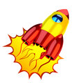 Rocket icon spaceship isolated on white hi res digitally generated image Royalty Free Stock Photos