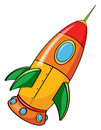 Rocket illustration of on a white background Stock Photos