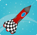 Rocket illustration of a on a whote background Stock Images