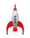 Rocket space ship isolated on white background d render Stock Photo