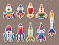 Rocket stickers Royalty Free Stock Photos