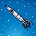 Rocket. Vector drawing Royalty Free Stock Photo