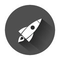 Rocket vector pictogram icon.
