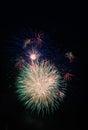 Rockets firework at oranienburg lightnights Stock Image