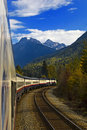 Rockies Train Journey Stock Photos