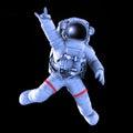 Photo : Rocking Astronaut, 3d render   in