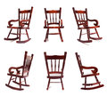Rocking chair collection a of a wooden against a white background Royalty Free Stock Photo