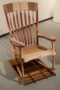 Rocking chair mutli wood rocker Royalty Free Stock Photos