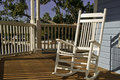 Rocking Chair on Porch Stock Photos