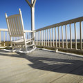 Rocking chair on porch. Royalty Free Stock Photo