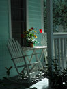 Rocking Chairs on Porch Royalty Free Stock Photography