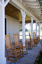 Rocking chairs on a porch Royalty Free Stock Photo