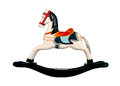 Rocking horse wooden Stock Images
