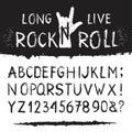Rocknroll alphabet font