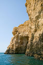 Rocks in Algarve, Portugal. Rock formations. Royalty Free Stock Image