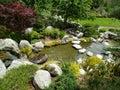 Rocks alley design Japanese friendship garden Balboa park San Diego Royalty Free Stock Photo