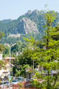 Rocks around the town of smolyan in the rhodope mountains regional center bulgaria city is located at an altitude meters above sea Royalty Free Stock Photography