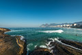 Rocks of arpoador beach and ipanema view in rio de janeiro brazil Royalty Free Stock Photo
