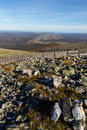 Rocks atop mountain rocky view from of the Royalty Free Stock Images