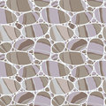 Rocks background seamless pattern with decorative stones Royalty Free Stock Photography