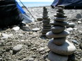 Rocks on the beach pebbles, feng shui ocean Royalty Free Stock Photo