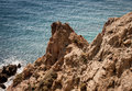 Rocks of cabo de gata the rugged in almeria spain Royalty Free Stock Photos