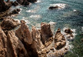 Rocks of cabo de gata the rugged in almeria spain Royalty Free Stock Photo