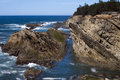 Rocks and Cliffs at Coo's Bay, Oregon Royalty Free Stock Photo