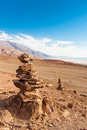 The rocks in the desert of death valley Royalty Free Stock Photo