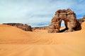 Rocks in the desert, Sahara desert, Libya Royalty Free Stock Photo