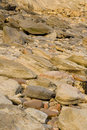 Rocks with embedded fossils Royalty Free Stock Photo