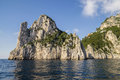 Rocks formation on the coast of  Capri Island, Italy Royalty Free Stock Photo