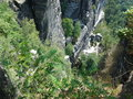 Rocks giants natural sandy are in saxony of бастай are natural bastion of saxon switzerland Stock Images