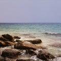 Rocks of island Royalty Free Stock Photo