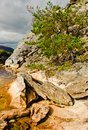 Rocks by lake, Killarney Ireland Stock Images