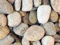 Rocks multi colored river stone Stock Photography