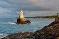Rocks near Ahtopol village and lighthouse, Bulgaria Royalty Free Stock Photo