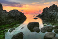 Rocks near Chernomorets village, Bulgaria Royalty Free Stock Photo