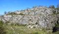 Rocks in quarry former limestone kamenarka near stramberk czech republic Stock Photos