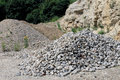 Rocks in a quarry scenic view of rock piles Royalty Free Stock Images