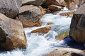 Rocks in a rapid river new zealand Royalty Free Stock Images