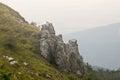Bulgaria. Rocks on the Shipka Pass Royalty Free Stock Photo