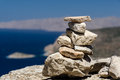 Rocks small pile of at monolithos castle rhodes Royalty Free Stock Image